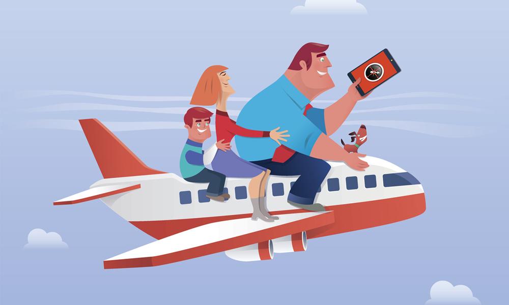 passenger plane parenting trend